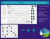 Digital Math Maze - Dividing Rational Numbers - Remote / D