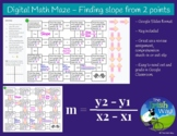 Digital Math Maze - Finding Slope from 2 points - Remote /