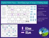 Digital Math Maze - Identifying type of slope / Finding slope