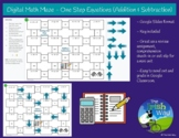Digital Math Maze - One Step Equations (+ & -) - Remote /