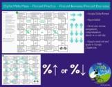 Digital Math Maze - Percent Increase/Decrease practice - R