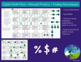 Digital Math Maze - Percent Practice - Finding Percentages