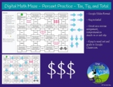 Digital Math Maze - Percent Practice - Tax, Tip, & Total -