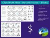 Digital Math Maze - Percent Practice - Tip - Remote & Dist