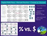 Digital Math Maze - Percent practice - Coupon vs. Discount