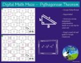 Digital Math Maze - Pythagorean Theorem - Remote / Distanc