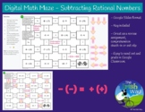 Digital Math Maze - Subtracting Rational Numbers - Remote