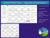 Digital Math Maze - Systems of Equations I - Remote / Dist