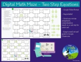 Digital Math Maze - Two Step Equations - Remote / Distance