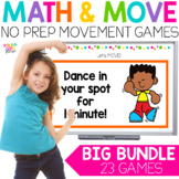 Digital Math Movement Games for Google (TM) and PowerPoint