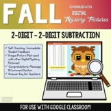 Digital Math Mystery Pictures Fall 2 Digit Subtraction With Without Regrouping