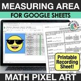 Digital Math Mystery Pixel Art - Area of Rectangles - Goog