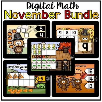 Digital Math November Bundle (making 10, comparing, counting 0-20)