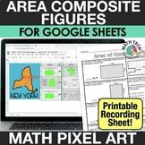 Digital Math Pixel Art - Finding Area of Composite Shapes