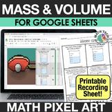 Digital Math Pixel Art - Mass and Volume 3rd Grade Math Di