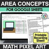 Digital Math Pixel Art - Measuring Area - 3rd Grade Math D