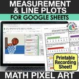 Digital Math Pixel Art - Measuring Length & Line Plots - G