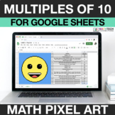Digital Math Pixel Art - Multiples of 10 - 3.NBT.3 - Googl