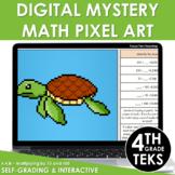 Digital Math Pixel Art Mystery 4th Grade TEKS 4.4.B - Multiplying by 10 and 100