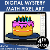 Digital Math Pixel Art | Mystery Picture 4th Grade 4.NF.4 Multiplying Fractions