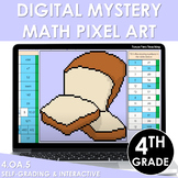 Digital Math Pixel Art Mystery Picture 4th Grade 4.OA.5 Patterns Sequences