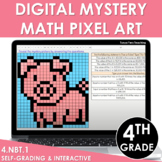 Digital Math Pixel Art | Mystery Picture 4th Grade Place V