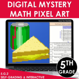 Digital Math Pixel Art | Mystery Picture 5th Grade Coordinate Grid Word Problems