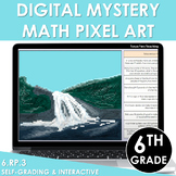 Digital Math Pixel Art Mystery Picture 6th Grade 6.RP.3 Ratios & Rate Reasoning