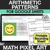 Digital Math Pixel Art - Number Patterns - 3rd Grade Dista