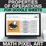 Digital Math Pixel Art - Properties of Multiplication - Di