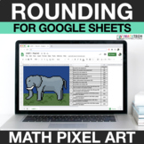 Digital Math Pixel Art - Rounding Numbers - 3.NBT.1 - Goog