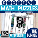 Digital Math Puzzles Bundle | Digital Math Centers | Seesa