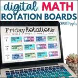 Digital Math Rotation Boards with TIMERS (Editable)