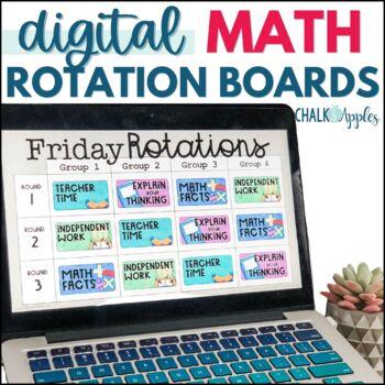 Math Digital Rotation Board with Timers (Editable)