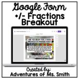 Digital Math Scavenger Hunt - Add/Subtract Fractions