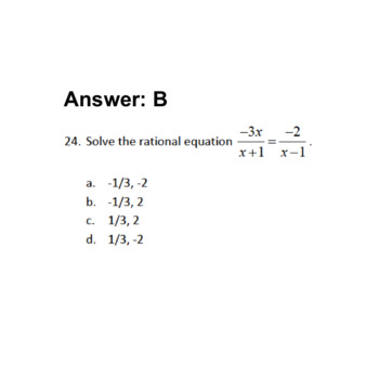 Digital Math Semester Review Game: Rational Expressions, Equations, & Functions