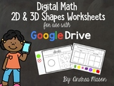 Digital Math Shapes Worksheets - Distance Learning - Googl