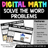 Digital Math: Solve the Word Problem (Add & Subtract within 20)