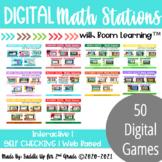 Digital Math Stations Bundle for Back to School l Task Car