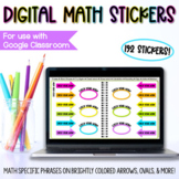 Digital Math Stickers for Distance Learning