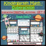 Digital Math Subtraction Worksheets for Kinder Within 10 | Set 1 Google SlidesTM