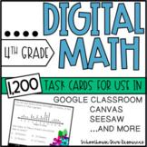 Digital Math Task Card Collection - 4th Grade