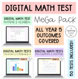 Digital Math Test MEGA BUNDLE - Year 5