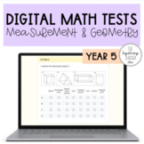 Digital Math Test MEGA Bundle - YEAR 5 - Measurement & Geometry Strand