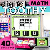 Digital Math Toothy® Task Cards Bundle   Kindergarten   Di