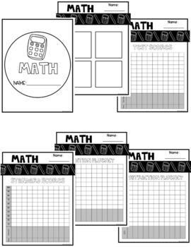 Digital Math Tracking {Editable}