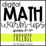 Digital Math Warm-Ups FREEBIE 3-5