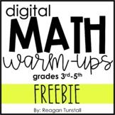Digital Math Warm-Ups FREEBIE 3-5