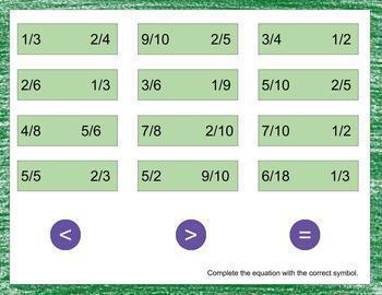 Digital Math Warm-Ups Number & Operations Fractions- Google Slides