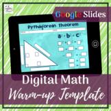 Digital Math Warm-up Templates   Distance Learning   Googl